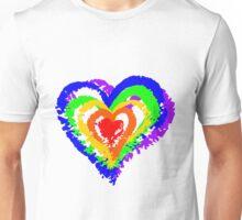 Rainbow Heart from brush strokes Unisex T-Shirt