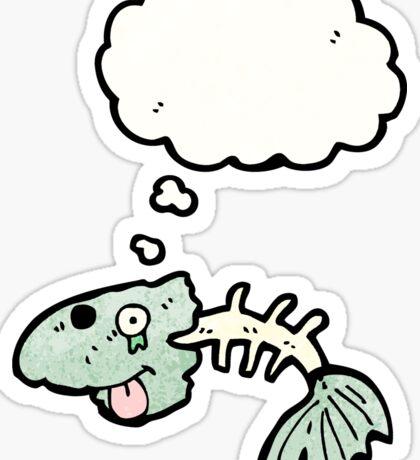 cartoon fishbones Sticker
