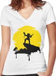 Predator Sun Women's Fitted V-Neck T-Shirt