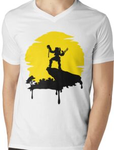 Predator Sun Mens V-Neck T-Shirt