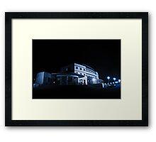 Blue Hotel Framed Print