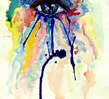 Watercolor Eye with splashing effect by AnnArtshock