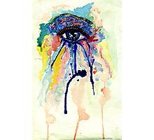 Watercolor Eye with splashing effect Photographic Print