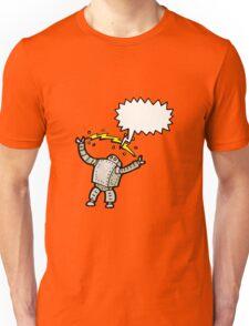 cartoon robot talking Unisex T-Shirt