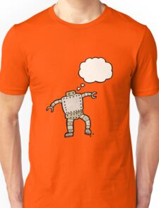 cartoon robot with thought bubble Unisex T-Shirt