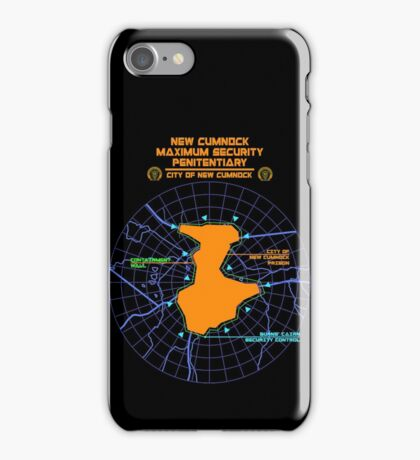 Escape From New Cumnock Penitentiary Map iPhone Case/Skin