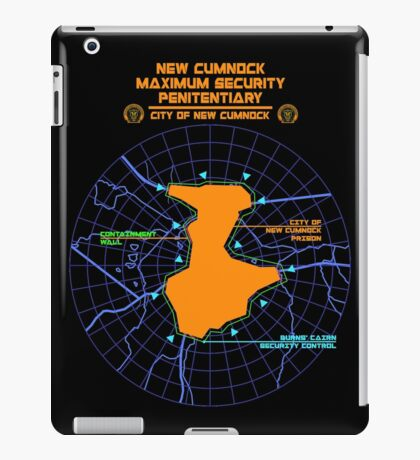 Escape From New Cumnock Penitentiary Map iPad Case/Skin