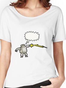 cartoon robot talking Women's Relaxed Fit T-Shirt