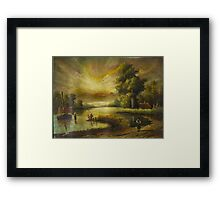 Oil Painting nature Framed Print