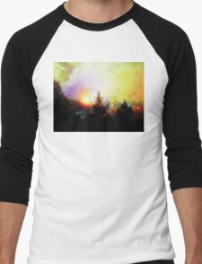 Sunrise In The Forest Men's Baseball ¾ T-Shirt
