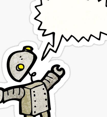 cartoon robot talking Sticker