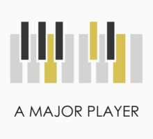 A Major Player Black Kids Tee