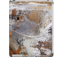 decay rust metal burnt car marble texture pattern iPad Case/Skin