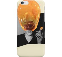Glass Man Portrait. iPhone Case/Skin