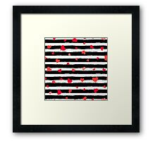 Vector Stripe Pattern with Hearts Framed Print