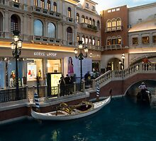 It's Not Venice - the White Wedding Gondola by Georgia Mizuleva