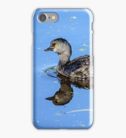 Least Grebe and Its Reflection iPhone Case/Skin