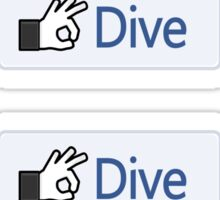 Dive 'Like' Button Sticker