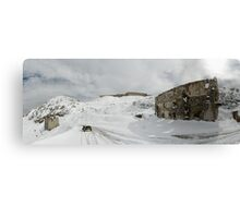 BMW R75 on top of the Tende Pass in winter Canvas Print