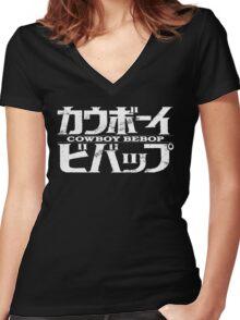 Cowboy Bebop logo Women's Fitted V-Neck T-Shirt