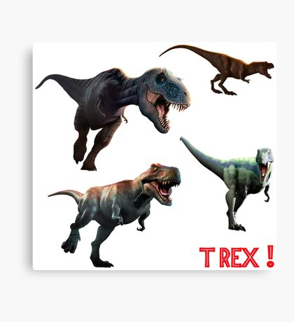 T Rexes - Various Poses Canvas Print
