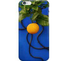 Blue wall orange fruit iPhone Case/Skin