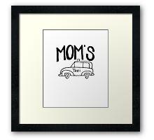 Mom's Taxi Framed Print
