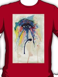 Watercolor Eye with splashing effect T-Shirt