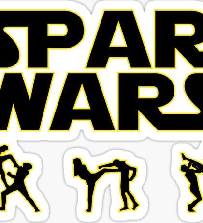 SPAR WARS TAEKWONDO MMA KARATE Sticker