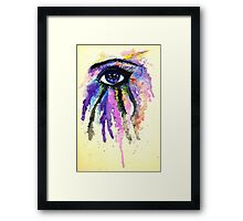 Watercolor Eye Framed Print