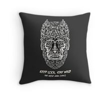Keep cool, stay wild. Throw Pillow