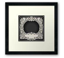 Vintage Floral Frame Framed Print
