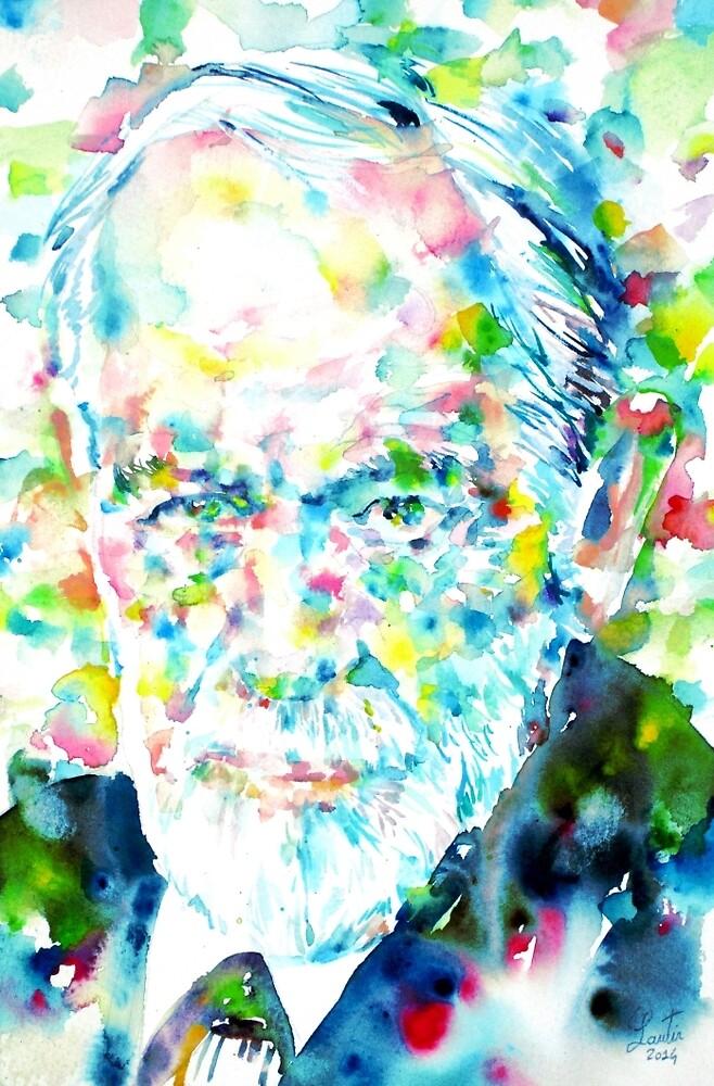 SIGMUND FREUD - portrait.1 by lautir