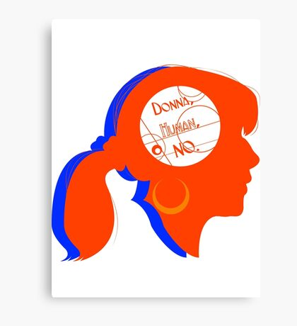Donna Silhouette Canvas Print