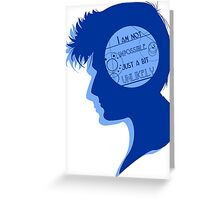 Ten silhouette Greeting Card
