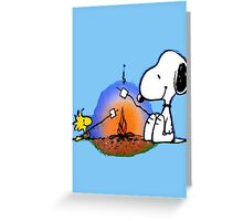 Snoopy and Woodstock ! Greeting Card