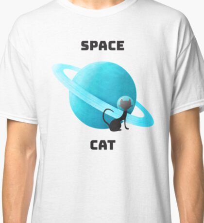 Cute space cat illustraiton Classic T-Shirt