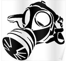 Gas Mask Stencil  Poster