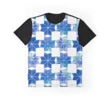 Abstract winter watercolor snowflakes Graphic T-Shirt