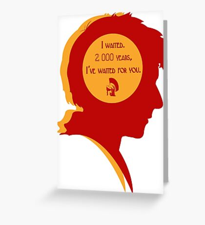 Rory silhouette Greeting Card