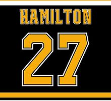Boston Bruins Dougie Hamilton Jersey Back Phone Case by Russ Jericho