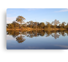 Late Afternoon Reflections on the River Murray Canvas Print
