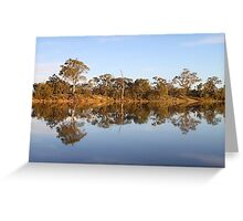 Late Afternoon Reflections on the River Murray Greeting Card