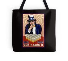 Beer Pong Tote Bag