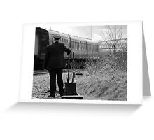 Trains Changing the points Greeting Card