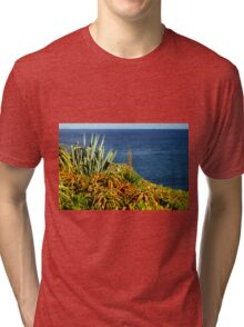 Cypress Sea Coast - Nature Photography Tri-blend T-Shirt