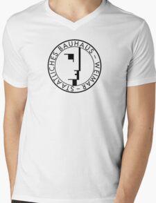 BAUHAUS WEIMAR (WHITE) Mens V-Neck T-Shirt