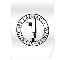 BAUHAUS WEIMAR (WHITE) Poster