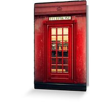 Magical Telephone Booth Greeting Card