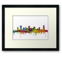 Nashville Tennessee Skyline Framed Print